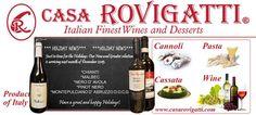 Casarovigatti.com -Great selection of #wines, #pastas & #desserts-In Stock- #Miami #Italy #imported #nerodavola #malbec #pinotnero #montepulcciano #chianti