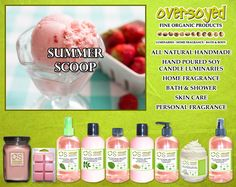 Summer Scoop (Compare To Yankee Candle®) Product Collection - Delicious memories of creamy, homemade strawberry ice cream on a hot summer day. One scoop or two? #OverSoyed #SummerScoop #YankeeCandle #Candles #HomeFragrance #BathandBody #Beauty