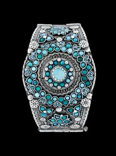 Silver and turquoise bracelet from Afghanistan | ca. 1970s | £600