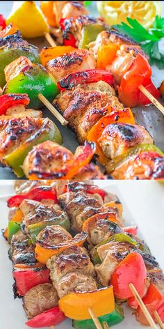 Very tender and so flavorful, these Easy Chicken Kebabs are MUST TRY this summer! This is my go-to kebab recipe. I use this Easy Chicken Kebab recipe very often during the grilling season. It requires Easy Chicken Kebab Recipe, Chicken Recipes, Chicken Kabob Marinade, Grilled Chicken Kabobs, Grilling Chicken, Chicken Kebab Recipe Skewers, Chicken Kebabs In Oven, Chicken Bell Pepper Recipes, Kebab Skewers