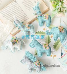 Newborn Crochet, Dinosaur Stuffed Animal, Toys, Mini, Animals, Kids, Activity Toys, Animales, Animaux