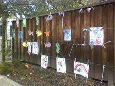 under a star: Outdoor Art Wall :)