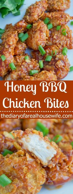 Honey BBQ Chicken Bites. I LOVE this recipe. We eat a lot of chicken and I love finding new ways to make it and my entire family loved this one.