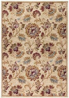 Blooming with beauty, this KHL Rugs Courtney Transitional floral rug offers a touch of elegance to dress up the look of any space. Textile Pattern Design, Textile Patterns, Textile Prints, Pattern Art, Textiles, Cotton Lawn Fabric, Islamic Art Pattern, Flower Phone Wallpaper, Decoupage Vintage
