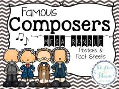 Big collection of Composer posters & fact sheets to use in lessons. Music Lessons For Kids, Music Lesson Plans, Kids Songs, Music Activities, History Activities, Music Classroom, Music Teachers, Piano Teaching, Music Composers