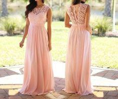 Sleeveless Chiffon Prom Dress,Elegant Prom Dresses,Long Prom Dress