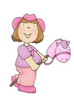 Cowgirl Sample with Pink Colours