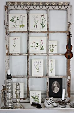 Home Shabby Home:Old Windows Ideas Vintage Windows, Old Windows, Windows Decor, Antique Windows, Wooden Windows, Old Window Frames, Window Ideas, Window Panes, Shabby Home