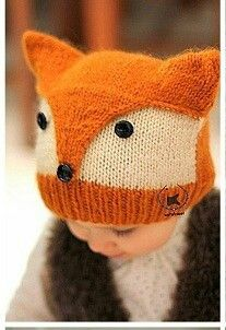 122 Likes 2 Comments Beanie Knitting Patterns Free, Baby Booties Knitting Pattern, Baby Hats Knitting, Knitting For Kids, Knitting Projects, Crochet Projects, Knitted Hats, Fox Baby Clothes, Crochet Baby