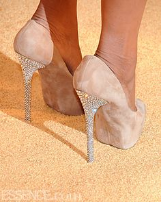 these heeled, nude swades are hotter then the sun