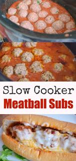 Cooker Meatball Subs Slow Cooker Meatball Subs Recipe - Easy Crock Pot Dinner Idea with homemade meatballs and marinara sauce.Slow Cooker Meatball Subs Recipe - Easy Crock Pot Dinner Idea with homemade meatballs and marinara sauce. Crock Pot Food, Crockpot Dishes, Crock Pot Slow Cooker, Slow Cooker Hamburger Recipes, Crock Pot Dinners, Slow Cooker Easy Recipes, Best Crockpot Meals, Crockpot Dinner Easy, Hamburger Crockpot Meals