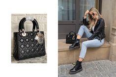 Black ladydior Lady Dior, Bags, Fashion, Handbags, Moda, La Mode, Fasion, Totes, Hand Bags
