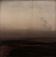 Dan Gualdoni, Coastal Redux #96 2011, Oil, printer's ink, glue medium on panel