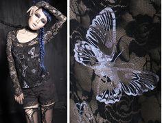 Punk Rave Goth Summer rock Rose Net Lace Tee shirt Fashion Sexy Top S-XXL W #PUNKRAVE #PUNK #Clubwear