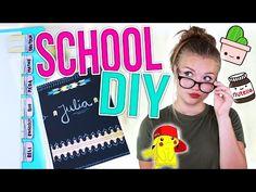 BACK TO SCHOOL DIY SCHOOL SUPPLIES! | Julia Beautx - YouTube