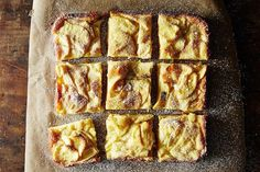 Dorie Greenspan's Custardy Apple Squares