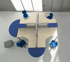 modern 'open' cubicle design work space