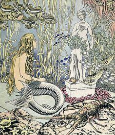 "Vintage Illustrtion by Ivan Bilibin - ""Little Mermaid"""