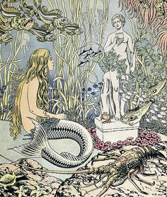 "Vintage Illustrtion by Ivan Bilibin - ""Little Mermaid"""