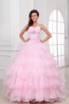 Organza Sweetheart Romantic Prom Gowns - Order Link: http://www.theweddingdresses.com/organza-sweetheart-romantic-prom-gowns-twdn2600.html - Embellishments: Tiered , Draped , Tiered , ; Length: Floor Length; Fabric: Organza; Waist: Natural - Price: 154.72USD