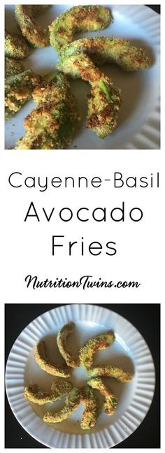 """Skinny Avocado """"Fries""""  Only 160 Calories   Satiating & Healthy Fries  For MORE RECIPES, Fitness & Nutrition Tips please SIGN UP for our FREE NEWSLETTER www.NutritionTwins.com"""