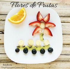 Comidas #Saludables: Cómo hacer Flores de #Frutas #food #art #healthy