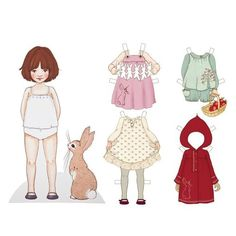 "Grande Poupée en Carton ""Dress Up Belle"" chez Rose & Milk"