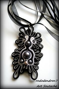 Soutache aztec pendant elegant and extraordinary от rododendron7