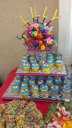 Kids Birthday party  Cupcake tower