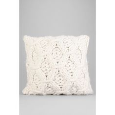 Cable-Knit Pillow ($49) ❤ liked on Polyvore featuring home, home decor, throw pillows, white, urban outfitters, white home decor, cotton throw pillows, cable knit throw pillow and white throw pillows