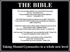 More biblical contradictions