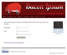 Add Bacon to Your Website! | WebsiteCreationWorkshop.com
