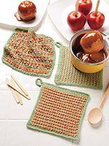 Candy Marl Kitchen Set free crochet dishcloth patterns