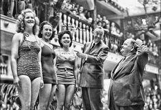 Laurel and Hardy in Skegness, June 1947.