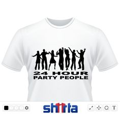 24 Hour Party People Design perfect for use on all products, ideal design for presents for Party lovers and Ravers.