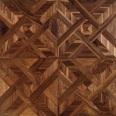 Parquet floors Treviso in American walnut or oak, inlaid chest of drawers… Wood Parquet, Parquet Flooring, Wooden Flooring, Hardwood Floors, Wood Floor Pattern, Floor Patterns, Tile Patterns, Parquetry, American Walnut