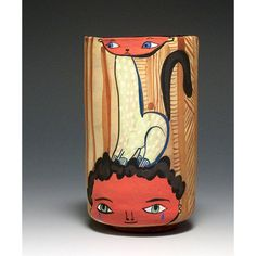 Out on the Town Ceramic Cup by JennyMendes