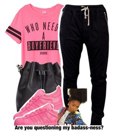 ~Chauncey by g-oddesses on Polyvore featuring polyvore, fashion, style, DRKSHDW, Proenza Schouler and adidas