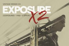 Check out ExposureX2 - Advanced Photo Effects by Vintage Design Co. on Creative Market