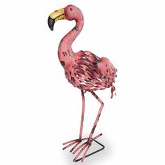 Flamingo Metal Garden Art \