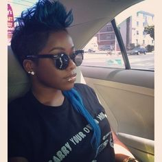 3 Cool @oloriswank #shorthair #stunner #style #bluehair #haircolor #stylist #thecut... | Use Instagram online! Websta is the Best Instagram Web Viewer!