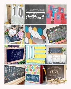 10 incredible chalkboard project! love everyone of them!!