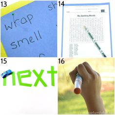 Take the boredom out of spelling practice with one of these creative and fun ways to practice spelling words that will work with any word list. Spelling Word Practice, Grade Spelling, Spelling Words, Play Based Learning, Fun Learning, Learn To Spell, Elementary Schools, Vocabulary, Illa