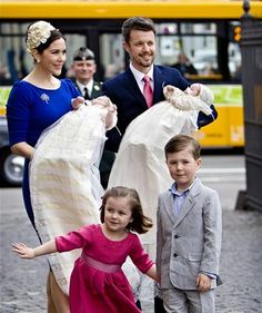 Crown Prince Frederik & Crown Princess Mary of Denmark with their four children.