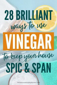 White Vinegar Uses: 28 Brilliant Ways to Use White Vine - Spring Break Kids spring cleaning tips spring cleaning tips cl. Household Cleaning Tips, Deep Cleaning Tips, Cleaning Recipes, Natural Cleaning Products, Cleaning Hacks, Household Products, Cleaning Solutions, Uses For White Vinegar, White Vinegar Cleaning