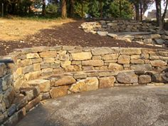 rock walls landscaping pictures - Google Search