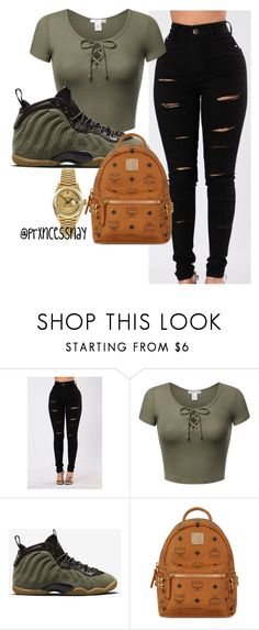 """12~15~17"" by prxncessnay on Polyvore featuring NIKE, MCM and Rolex"