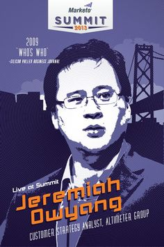 Dont miss Altimeter Groups Jeremiah Owyang at Marketo Summit in San Francisco on 4/9! Sign up for the free keynote! #MUS13