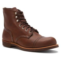 Red Wing Shoes Iron Ranger Work Boot - Amber Leather in 6.5