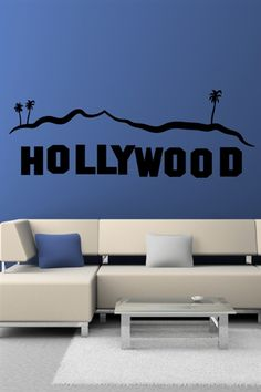 Wall Decals Hollywood Sign- WALLTAT.com Art Without Boundaries @Tommy ☺ Hollywood-Jasso